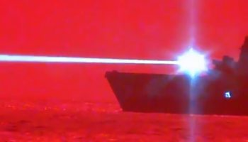 Watch The USS Portland Shoot Down A Drone With A High-Intensity Laser