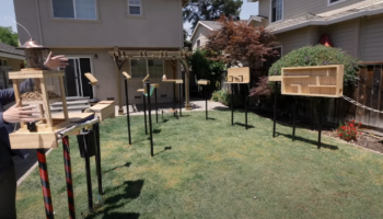 Former NASA Engineer Builds An Obstacle Course To 'Squirrel Proof' His Bird Feeder