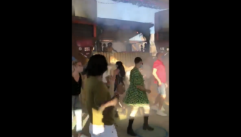 Here's What One Of The First  'Socially-Distanced' Dance Parties In Europe Looked Like