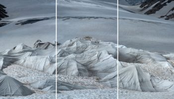 High In The Alps, Giant Blankets Slow A Glacier's Ice Melt
