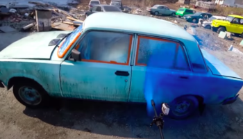 Guy Completes 'World's Fastest Paint Job' On Car With Pressure Washer And, Surprisingly, It Actually Works