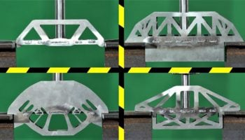 YouTuber Tests Out Which Steel Bridge Designs Can Best Withstand The Force Of A Hydraulic Press