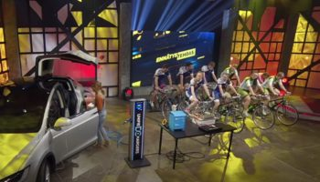 What Happens When Nine Pro Cyclists Attempt To Charge A Tesla Battery?
