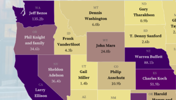 The Richest Person In Each State Of America, Visualized