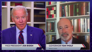 Here's The Moment Joe Biden Seemingly Farted During A Livecast Conversation With Pennsylvania Governor Tom Wolf