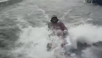 The Roads Were Flooded, So This Miami Guy Decided It Was A Good Time To Go Water Skiing