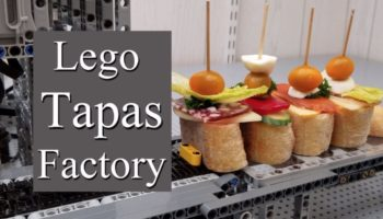 Here's A Wonderful Tapas-Making Assembly Line Contraption Made Completely Out Of Legos