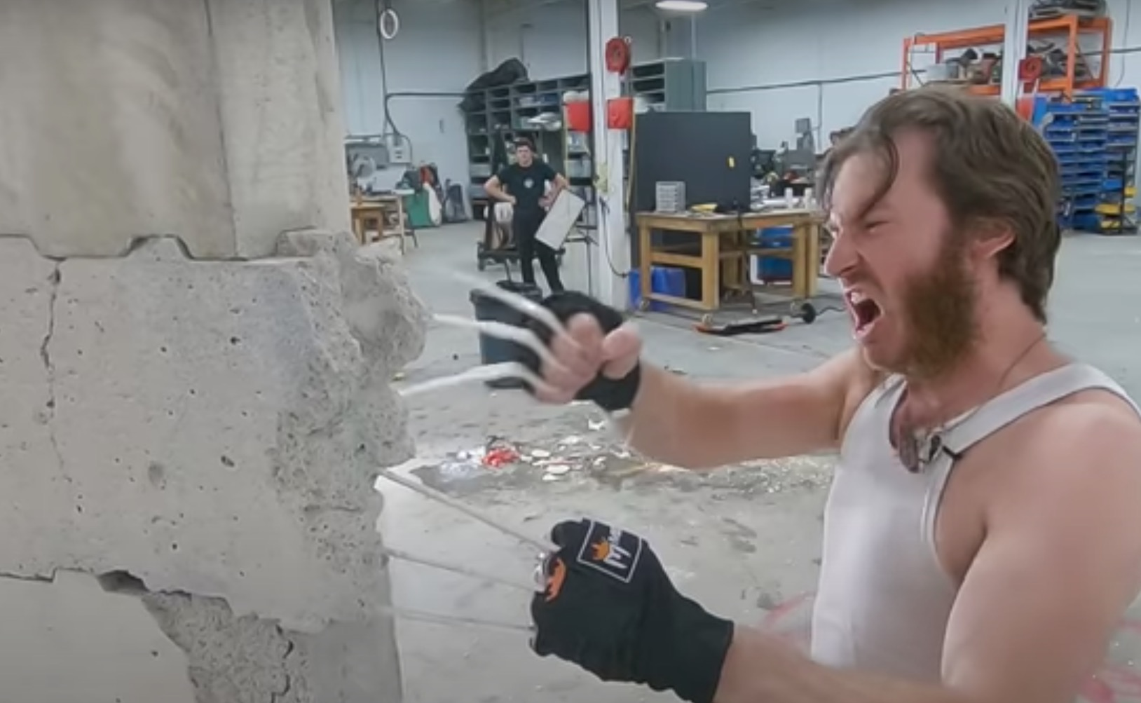 YouTuber Builds Wolverine Bone Claws And Attempts To Break A Concrete Wall