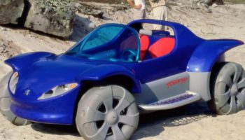 The 1996 Peugeot Touareg Concept Was A Weird, Fully-Functional, Life-Sized Toy Car