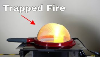Here's How To Trap A Fire Explosion Using An Ordinary Kitchen Strainer