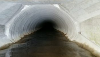 Man Goes On An Otherwordly Journey Through A Steep 10%+ Grade Culvert