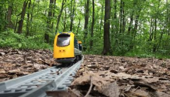 Here's A Relaxing Lego Train Ride Through A Forest
