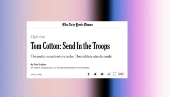 'New York Times' Staffers Grill Leadership Over Tom Cotton Op-Ed During All-Hands