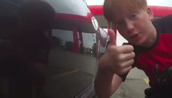 Guy Forgets To Turn Off Camera On His Nissan 370Z, Captures Surprisingly Wholesome Reaction From Kid