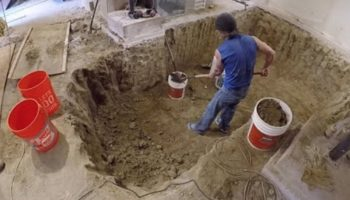 Watch A Time Lapse Of A Man Digging Out A 100-Year-Old Basement With His Bare Hands