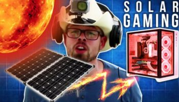 Mad Genius Modifies His Gaming PC To Get It To Run Entirely Off The Sun