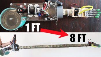 Someone Built An Extendable Inspector Gadget-esque Robotic Arm For Social Distancing