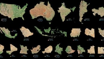 The Largest To Smallest Landmasses In The World, Visualized