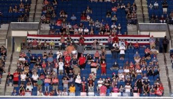 Turnout At Trump's Tulsa Rally Was Just Under 6,200 - A Fraction Of The Venue's 19,200 Capacity