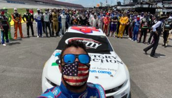Watch NASCAR Drivers March In Solidarity Behind Driver Bubba Wallace