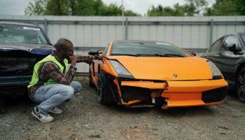 Man Discovers A Largely Intact Lamborghini Gallardo At A Salvage Yard