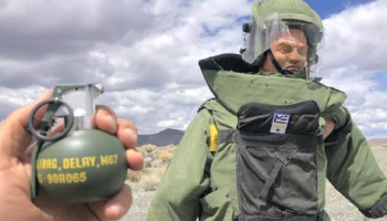 Guys Test Out If A Bomb Suit Can Survive A Grenade. The Results Are Not Pretty
