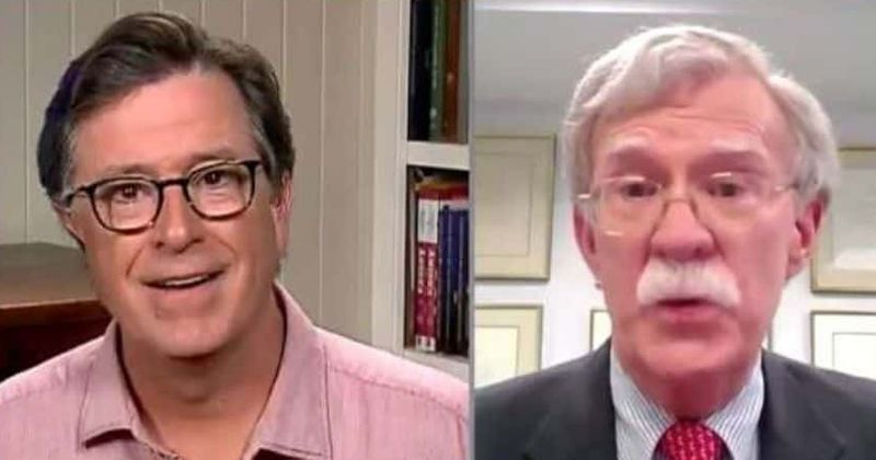 Stephen Colbert Asks John Bolton How He Could Be So 'Naive' For Trusting Trump In Fiery Interview - Digg