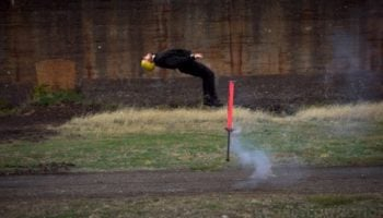 Watch These Extreme Pogo Stick Riders Perform Death-Defying Stunts In Slow Motion