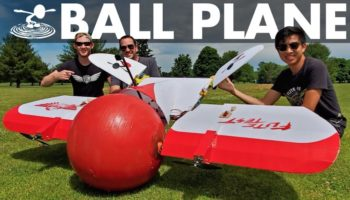 Here's An Exercise Ball Transformed Into A Landing Gear For A Remote-Controlled Airplane