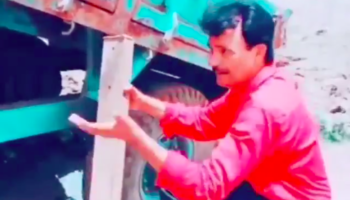 Guy Saves A Truck Stuck In A Pot Hole With A Simple Engineering Solution