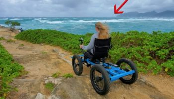 Here's An Off-Road Wheelchair This Guy Built His Girlfriend So She Could Enjoy Nature