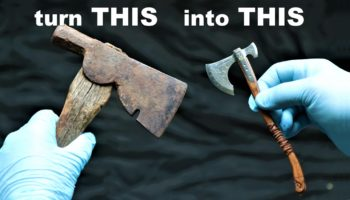 Craftsman Transforms A Rusty Hatchet Into A Miniature Leviathan Axe