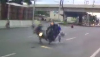 Motorcyclist Goes Into Opposite Lane, Collides Head-On With Other Motorcycle