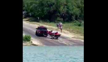 Driver Tries To Launch Their Jetski Into Water, Fails Again (And Again And Again)