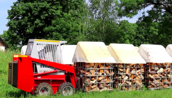 It Takes A Long Time To Process Firewood By Hand, So This Guy Built A Machine To Do His Work For Him