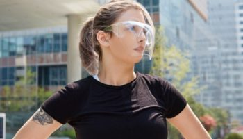 This Face Shield Is Clearly A Sleek Way To Stay Safe
