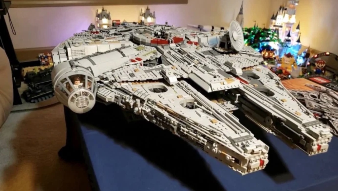Here's An Awesome Stop-Motion Timelapse Of The Millennium Falcon Being Built Completely Out Of Legos