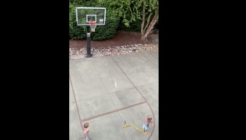 Kid Gets Out Of Bedtime With This Insane Trick Shot