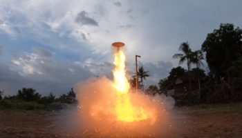 Someone Built A UFO And Sent It Into The Stratosphere With A Chain Reaction From Lighting 25,000 Matches