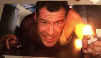 This 'Die Hard' Fan Built An Art Installation That Makes It Look Like Bruce Willis Is Crawling Inside His Vent