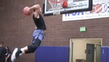 Watch This Guy Take An Eye-Popping 50-Inch Vertical Leap To Dunk A Basketball