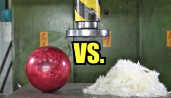 If You Pulverize Feathers With A Hydraulic Press, Can You Make Them Drop As Fast As A Bowling Ball?