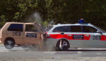 Watch How Far Car Safety Has Improved In This 55-MPH Crash Test Between A 1983 Fiat Uno And A Modern-Day BMW