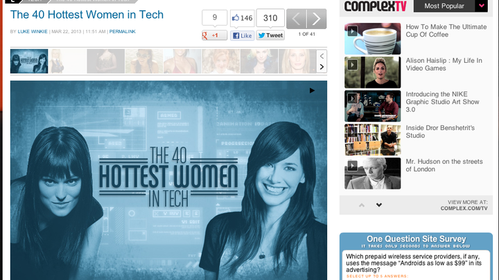 The 40 Hottest Women In Tech, And My Worst Day Online