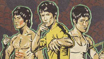 Three Portraits Of Bruce Lee