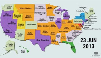 The Top Trending Musicians By State From 2010 To 2020, Visualized
