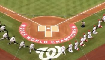 This Video Of Every Player On The Yankees And The Nationals Taking A Knee Before The Anthem Is Quietly Moving