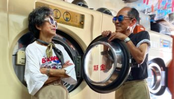 He's 83, She's 84, And They Model Other People's Forgotten Laundry