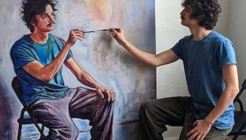 Guy Paints Himself Painting Himself Over And Over, Dominates Reddit's Front Page