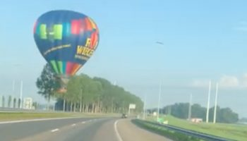 Motorist Narrowly Avoids Crashing Into Out-Of-Control Hot Air Balloon
